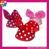 Bando Topi Pita Polkadot Minnie Mouse
