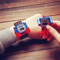 jam tangan anak laki laki / cowo skmei robot original Biru