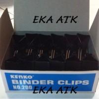 Binder Clips Kenko 200 / Klip / Penjepit / Jepitan Kertas Hitam