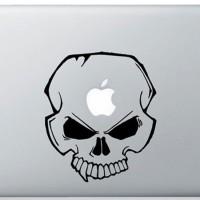 041 macbook decal sticker vinyl aksesoris laptop tengkorak