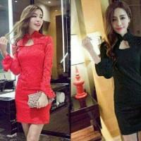 Dress Brukat Cheongsam