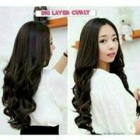 Wig Hair Clip Curly Big Layer Panjang 60-65 Cm
