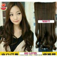 Wig Hair Clip Big Layer Wave Panjang 60-65 Cm