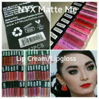 NYX MATTE ME LIP CREAM / Lipgloss Creamy Replica Sleek