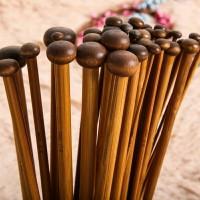 Single Pointed Knitting Needle Bamboo Set (18 Size) Jarum Rajut Bambu