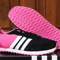 Sepatu Adidas Sporty Women Hitam Pink  (joging,casual,terbaru)