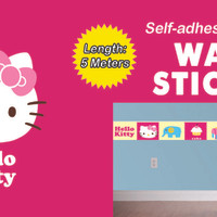 Border Wall Sticker KTBWS001 Hello Kitty Dinding
