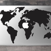083 macbook decal sticker vinyl aksesoris laptop map peta