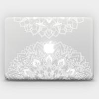 078 macbook decal sticker vinyl aksesoris laptop flower bunga