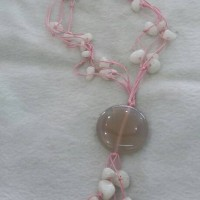 kalung batu rajut berliontin batu akik original