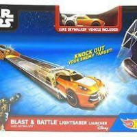 Hot Wheels Star Wars Blast & Battle Lightsaber Launcher Luke Skywalker