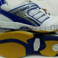 Sepatu olahraga badminton Hart HS 303 (White-Blue)