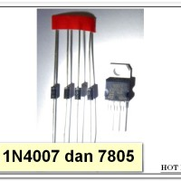 Paket Hemat 4Pcs Diode 1N4007 dan 1Pcs IC Regulator 7085
