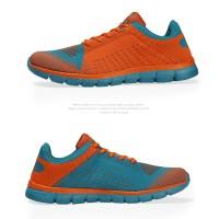 Sepatu Running/Olahraga/Lari KETA 183 Orange/Blue