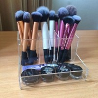 acrylic brush holder,tempat brush akrilik,rak brush makeup