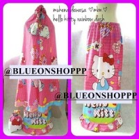 hello kitty rainbow dash mukena dewasa karakter lucu