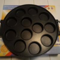 Cetakan Kue 12 lubang datar/ Snack maker 12 holes