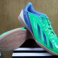 sepatu futsal adidas f5 in hijau biru original