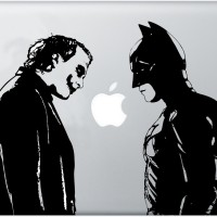 099 macbook decal sticker vinyl aksesoris laptop batman vs joker