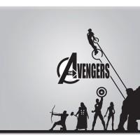 088 macbook decal sticker vinyl aksesoris laptop avenger terbaru murah