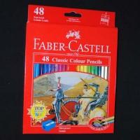 Pensil Warna Faber Castell Classic 48 Panjang