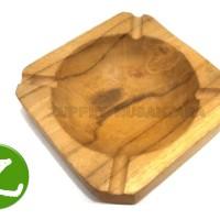 ASBAK KAYU ASLI (10cm x 10cm)