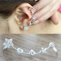 anting panjang bintang kotak hati/ Long earrings box star love JAN006