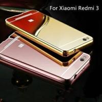 Casing Mirror bumper slide cover redmi 3