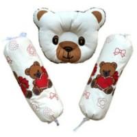 Set Bantal Peyang dan Guling Bayi Motif Bear