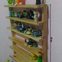 Rak mainan 6 susun kayu pinus