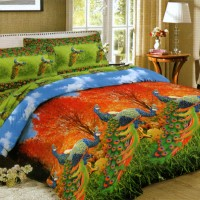 Bedcover Lady Rose Disperse 180 - Peacock