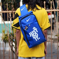 Tas Ransel Selempang Nike just do it Biru