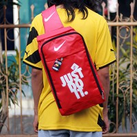 Tas Ransel Selempang Nike just do it merah