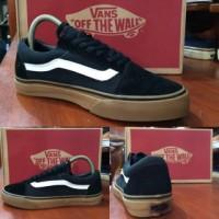 Sepatu vans oldskool black gum original premium quality waffle DT