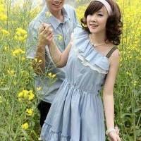 Kemeja Dress Couple Karen Denim Trend Fashion