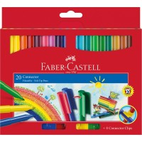 faber castell spidol warna connector pen set 20 colours