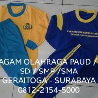 PAKAIAN OLAHRAGA / SERAGAM TRAINING / KAOS PAUD / TK /SD / SMP / SMA