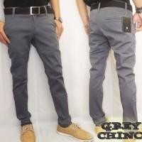 Celana Panjang Chino Abu - Abu   Chinos Pants Grey
