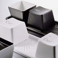 Gelas Keyboard Unik Mug Wadah Snack Souvenir Lucu Murah Ctrl Alt Del