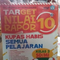 Target Nilai Rapor 10 : Kelas 3 SD/MI