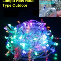 Lampu Hias Natal Led Outdoor Warna Warni 10 Meter(100 Led) + Controler