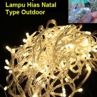 Lampu Hias Natal Led Outdoor Warm White 10 Meter (100 Led) + Controler