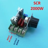 SCR 2000W Voltage Regulator Motor Speed Controller Thermostat AC 220V