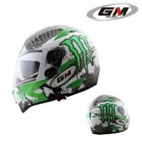 Helm GM Airborne Full Fullface Visor Airbone Monster Green