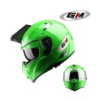 Helm GM Airborne Green Solid Fullface Full Visor Airborned