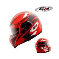 Helm GM Airborne One Full Fullface Visor Airbone Red Black
