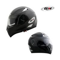 Helm GM Airborne Black Solid Fullface Full Visor Airborned