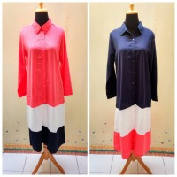 Tunik bhn Twiscone kancing dpn