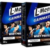 Susu LMen CoklatL-men Gainmass whey protein coklat Susu Lmen coklat