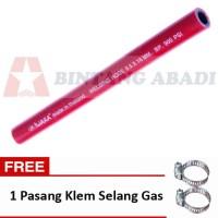 Iwara Selang Gas LPG Acetylene Merah - 5 Meter